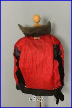 Vtg 1940s California HORSEHIDE Leather Motorcycle Jacket L/XL