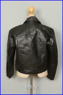 Vtg 1940s HERCULES Aviator Leather Flight Motorcycle Jacket Small/Medium