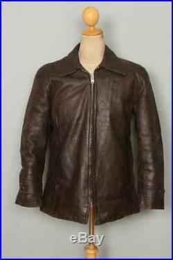 Vtg 1940s Lakeland Pony HORSEHIDE Leather Sports Jacket Medium