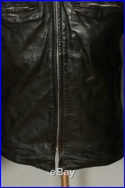 Vtg 1950s BUCO J-100 Cafe Racer Horsehide Leather Motorcycle Jacket Small