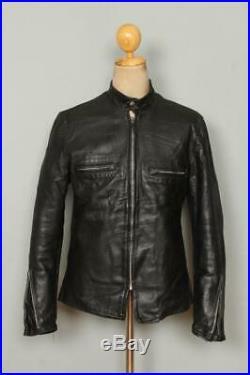 Vtg 1950s BUCO J-100 Cafe Racer Steerhide Leather Motorcycle Jacket S/M