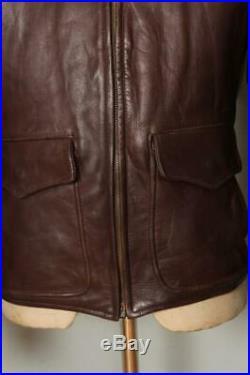 Vtg 1950s Golden Bear HORSEHIDE Flight Leather Sports Jacket Medium
