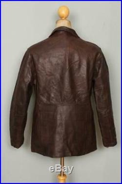 Vtg 1950s HERCULES Sears HORSEHIDE Leather Half Belt Sports Jacket S/M