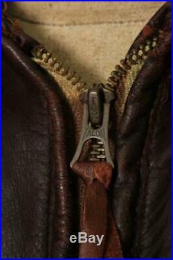 Vtg 1950s HORSEHIDE Flight Leather Sports Jacket Medium/Large
