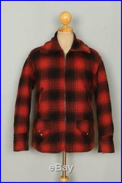 Vtg 1950s WINDWARD Wool Hunting Sports Jacket Medium