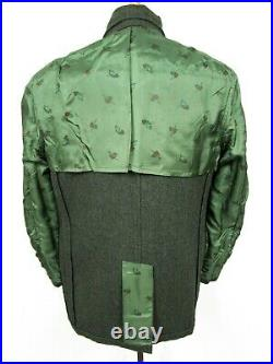 Vtg 1960s 3pc Wool TWEED HERRINGBONE suit 38 R MOD jacket VEST pants WEDDING