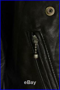 Vtg 1960s HIGHWAYMAN British Leather Motorcycle Biker Jacket Medium/Large