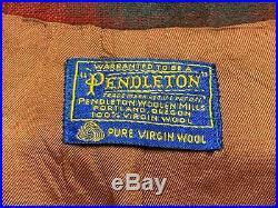 Vtg 1960s PENDLETON Ricky Jacket L ROCKABILLY Shadow Plaid wool flannel VLV 60s