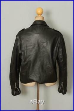 Vtg 1970s BRIMACO D-Pocket Leather Motorcycle Biker Jacket Size 40/42