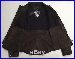 Vtg $2100 Dolce Gabbana 100% Calfskin Leather Shirt Jacket Suede Western Cowboy