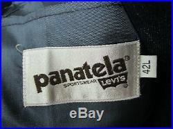 Vtg 3pc LEVIS Denim Western Suit 42 L MINT 70s jacket VEST pants jeans WEDDING