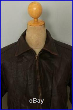 Vtg 50s American Sports HORSEHIDE Leather Flight Sports Motorcycle Jacket