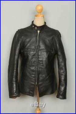 Vtg 50s BECK 666 Horsehide Leather Cafe Racer Motorcycle Jacket Medium