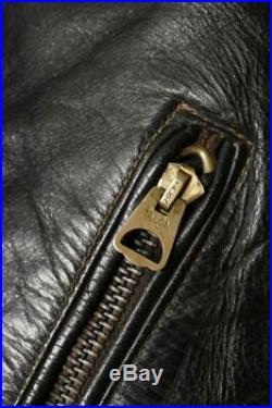 Vtg 50s DURABLE'One Star' HORSEHIDE Leather Motorcycle Biker Jacket S/M