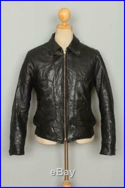 Vtg 50s FIELDMASTER Steerhide Leather Sports Motorcycle Jacket 38/40