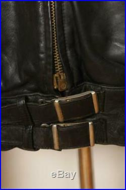 Vtg 50s GERMAN Leather Motorcycle Jacket Medium/Large