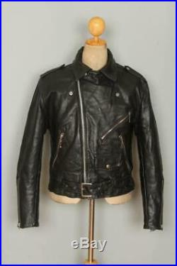 Vtg 50s GUIDEMASTER WOLF Steerhide Leather Motorcycle Jacket Medium