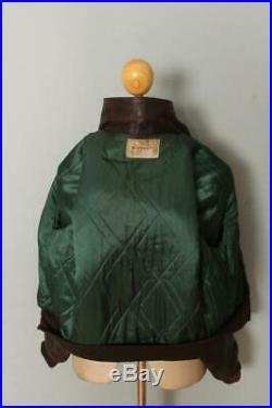Vtg 50s WINDWARD HORSEHIDE Leather Motorcycle Sports Flight Jacket Medium/Large