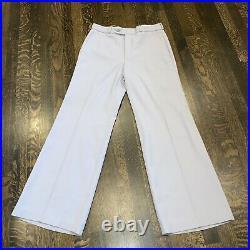 Vtg 60s 70s TUXEDO Suit Mens 38 Jacket Vest 31 30 Bell Bottom Pants Disco Prom