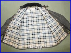 Vtg 60s BELSTAFF TRIALMASTER CHECKERED FLAG LABEL WAXED COTTON MOTORCYCLE JACKET