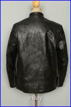 Vtg 60s BRIMACO British Cycle Leathers Cafe Racer Motorcycle Jacket Medium