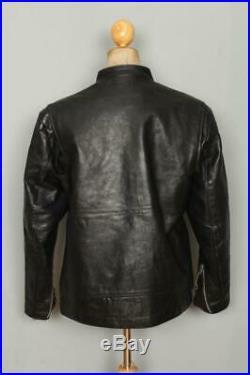 Vtg 60s BRIMACO British Cycle Leathers Cafe Racer Motorcycle Jacket XL