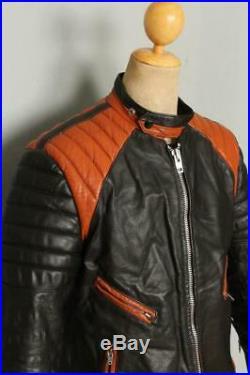 Vtg 60s BRITISH CYCLE LEATHERS Brimaco Padded Cafe Racer Motorcycle Jacket