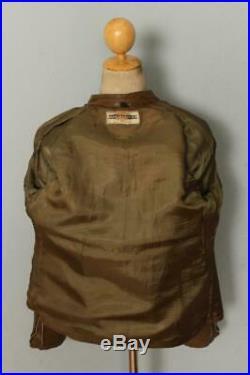 Vtg 60s HARLEY DAVIDSON Leather Cafe Racer Motorcycle Jacket Medium