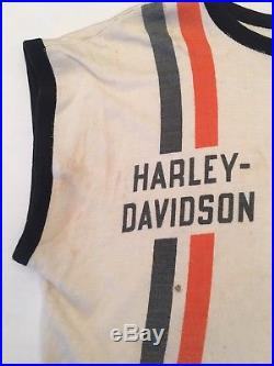 Vtg 60s Harley Davidson Racing Jersey Champion Motorcycle Biker Triumph Vest