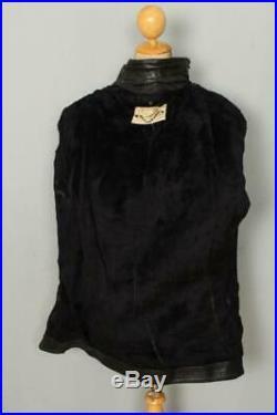 Vtg 60s PASSAIC Steerhide Leather Half Belt Police Motorcycle Jacket Large