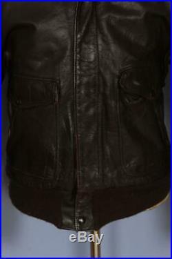 Vtg 60s SCHOTT PERFECTO Steerhide Leather Flight Motorcycle Jacket 42