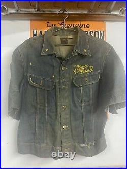 Vtg 70's Motorcycle Club Vest -FUGITIVES Lee