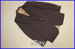 Vtg 70s ANGELS FLIGHT 3-pc brown pinstripe mens vintage suit pants jacket vest