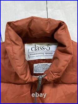 Vtg 70s Class 5 Mountaineering Goose Down Vest Rust Made In Usa Marty Mcfly S