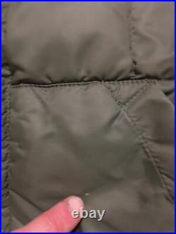 Vtg 70s Eddie Bauer Goose Down Quilted Vest Sz 42 Green Talon Zipper Puffer USA