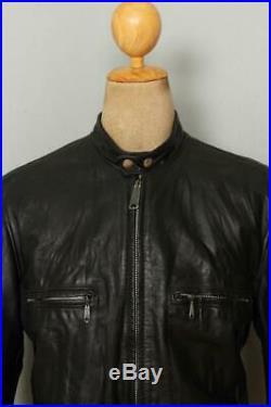 Vtg 70s HARLEY DAVIDSON Leather Cafe Racer Motorcycle Jacket Large