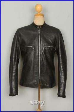 Vtg 70s HARLEY DAVIDSON Leather Cafe Racer Motorcycle Jacket Small