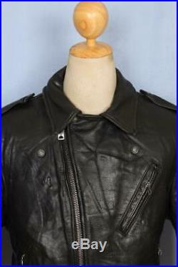 Vtg 70s SCHOTT PERFECTO 618/118 Leather Motorcycle Jacket Medium