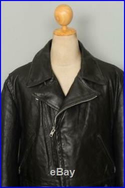 Vtg 70s SCHOTT PERFECTO CHP Police Style Leather Motorcycle Jacket XL