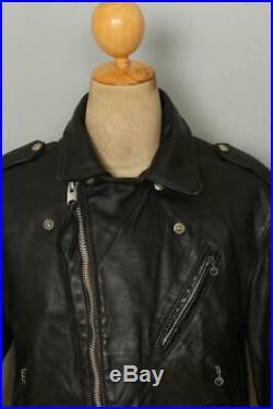 Vtg 70s SCHOTT PERFECTO'One Star' Leather Motorcycle Jacket Medium/Large