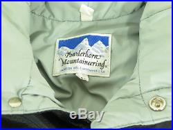 Vtg 80s POWDERHORN MOUNTAINEERING WESTERN YOKE retro DOWN Blend L Puffy Vest