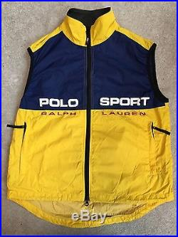 Ralph Deadstock Polo Sport Ski Lauren Vtg Sz 90s Vest Mens Rlx H9DWIE2