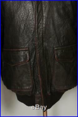 Vtg AVIREX A-2'American Maid' US NAVY Flight Leather Jacket Size XL