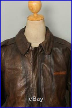 Vtg AVIREX A-2'Glenn Millers AAF Band' USAAF Flight Leather Jacket L/XL