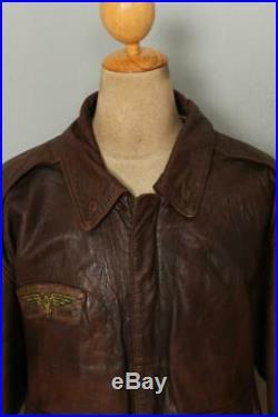 Vtg AVIREX A-2'Glenn Millers AAF Band' USAAF Flight Leather Jacket XL/XXL
