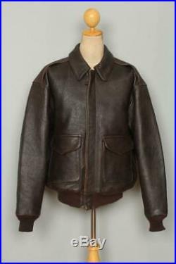 Vtg AVIREX A-2'Miss B Haven' USAAF Flight Leather Jacket Size L/XL