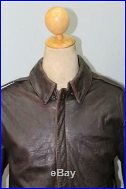 Vtg AVIREX A-2 USAAF Southern Comfort Flight Leather Jacket Medium