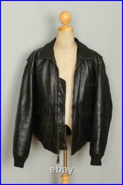Vtg AVIREX G-1'Charles T Reilly' US NAVY Flight Leather Jacket Large