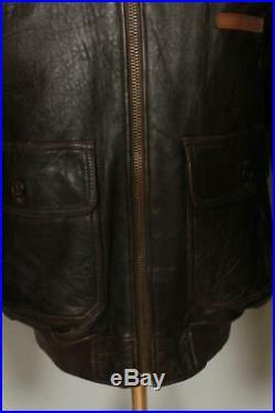 Vtg AVIREX G-1'Charles T Reilly' US NAVY Flight Leather Jacket XL/XXL