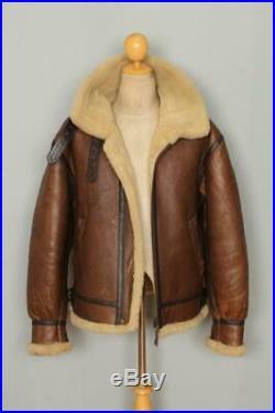 Vtg B-3 Sheepskin'Memphis Belle' Leather Winter Flight Jacket Medium/Large